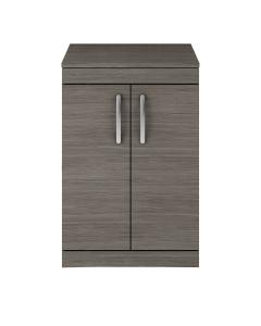 Nuie Athena Brown Grey Avola Contemporary 600 Floor Standing 2-Door Vanity With Worktop - ATH025W ATH025W