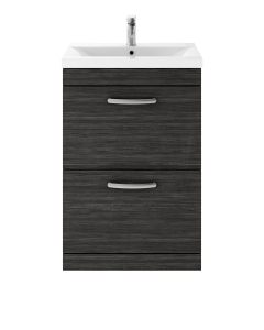 Nuie Athena Hacienda Black Contemporary 600mm Floor Standing Vanity & Basin 3 - ATH033D ATH033D