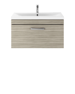 Nuie Athena Driftwood Contemporary 800mm Wall Hung Vanity & Basin 3 - ATH057D ATH057D