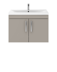 Nuie Athena Stone Grey Contemporary 800mm Wall Hung Cabinet & Basin 1 - ATH097A ATH097A