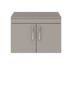 Nuie Athena Stone Grey Contemporary 800mm Wall Hung Cabinet & Worktop - ATH097W ATH097W