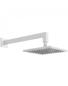 Vado Atmosphere Air-Injected 200Mm Square Easy Clean Slimline Shower Head With Shower Arm - Atm-Headsq/B/Sa/A-Cp VADO1318