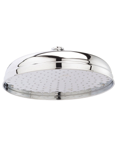 Bayswater Traditional 12 Inch Apron Fixed Shower Head Chrome BAY1180