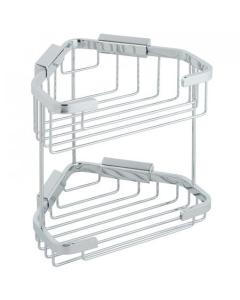 Vado Basket Large Double Triangular Corner Wall Mounted - Bas-2013-C/P VADO1017