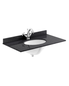 Bayswater Black Marble Top Furniture Basin 800mm Wide 1 Tap Hole BAY1109