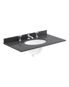 Bayswater Black Marble Top Furniture Basin 800mm Wide 3 Tap Hole BAY1108
