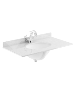Bayswater Grey Marble Top Furniture Basin 800mm Wide 1 Tap Hole BAY1125