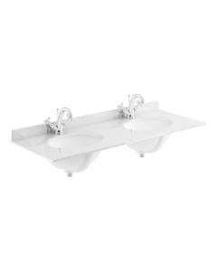 Bayswater Grey Marble Top Furniture Double Basin 1200mm Wide 1 Tap Hole BAY1123