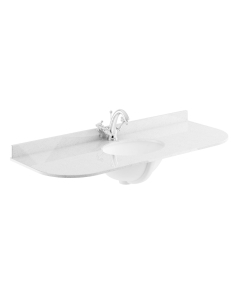 Bayswater Grey Marble Top Curved Furniture Basin 1200mm Wide 1 Tap Hole BAY1121