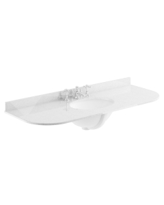 Bayswater Grey Marble Top Curved Furniture Basin 1200mm Wide 3 Tap Hole BAY1120