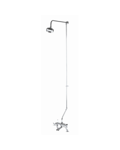Bayswater Bath Shower Mixer Rigid Riser Kit with Fixed Head Chrome BAY1099