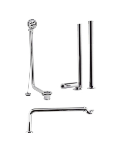 Bayswater Traditional Roll Top Bath Pack Chrome BAY1147