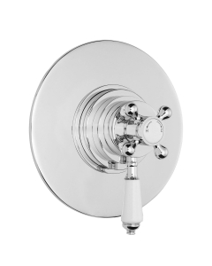 Bayswater Traditional Dual Concealed Concentric Shower Valve White/Chrome BAY1088