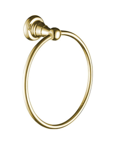 Bristan 1901 Brass Towel Ring, Gold Plated N2 RING G