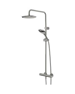 Bristan Designer Claret FastFit Bar Mixer Shower with Shower Kit + Fixed Head CLR SHXDIVFF C