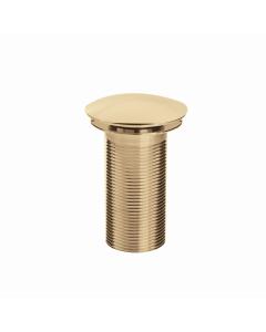 Bristan Round Clicker Basin Waste Gold - Unslotted W BASIN05 G