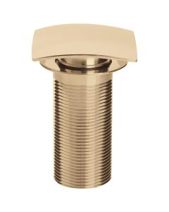Bristan Square Clicker Basin Waste Gold - Unslotted W BASIN07 G