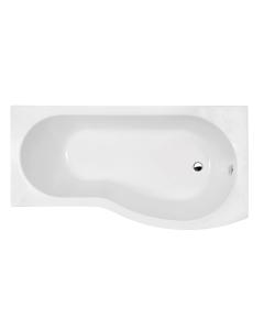 Nuie Shower Baths White Contemporary Right Hand Curved Bath 1500mm - WBB1585R WBB1585R