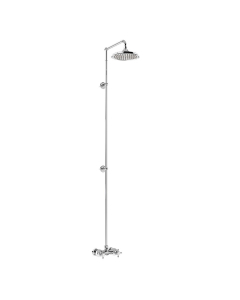 """Burlington Eden Extended Dual Exposed Shower with 6"""" Fixed Head BU10669"""
