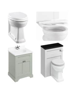 Burlington Furniture Bathroom Suite 670mm Wide Vanity Unit Olive - 0 Tap Hole BU10864
