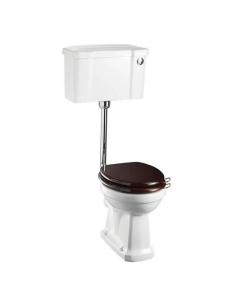 Burlington Regal Low Level Toilet Push Button Cistern - Excluding Seat BU10026