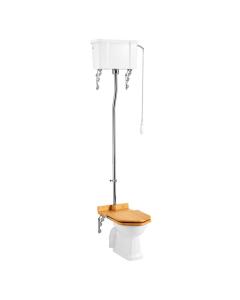 Burlington Regal High Level Toilet Single Flush Cistern - Excluding Seat BU10053