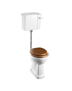 Burlington Regal Low Level Toilet Slimline Lever Cistern - Excluding Seat BU10027