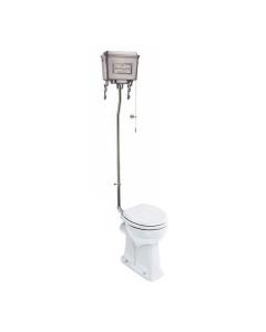 Burlington Regal High Level Toilet Polished Aluminium Cistern - Excluding Seat BU10043