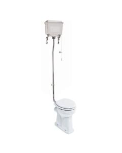 Burlington Regal High Level Toilet White Aluminium Cistern - Excluding Seat BU10045