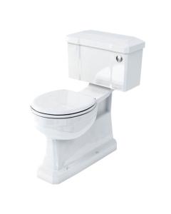 Burlington S-Trap Close Coupled Toilet Slimline Push Button Cistern - Excluding Seat BU10019