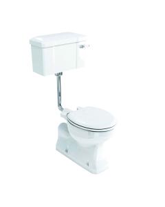 Burlington S-Trap Low Level Toilet Lever Cistern - Excluding Seat BU10022