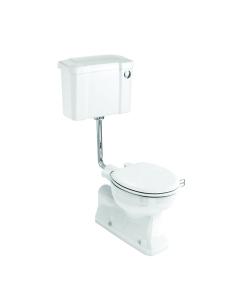 Burlington S-Trap Low Level Toilet Slimline Push Button Cistern - Excluding Seat BU10030