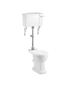 Burlington Standard Medium Level Toilet Lever Cistern - Excluding Seat BU10032
