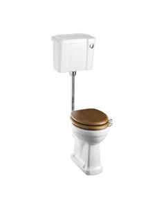 Burlington Standard Low Level Toilet Slimline Push Button Cistern - Excluding Seat BU10020