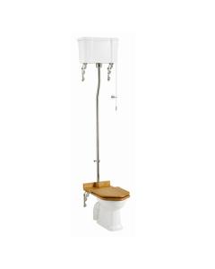 Burlington Standard High Level Toilet White Ceramic Cistern - Excluding Seat BU10035
