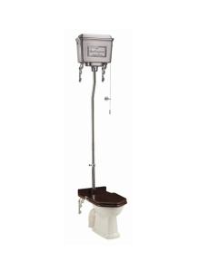 Burlington Standard High Level Toilet Polished Aluminium Cistern - Excluding Seat BU10039