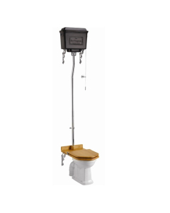 Burlington Standard High Level Toilet Black Aluminium Cistern - Excluding Seat BU10041