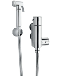 Nuie Shower Accessories Chrome Contemporary Douche Spray Kit & Thermostatic Valve - BW002 BW002