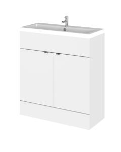 Hudson Reed Fusion Gloss White 800 Vanity Unit & Basin - CBI128 CBI128