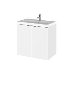 Hudson Reed Fusion Gloss White 600mm Vanity Unit & Basin - CBI136 CBI136