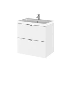 Hudson Reed Fusion Gloss White 500mm Vanity Unit & Basin - CBI141 CBI141