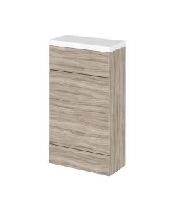 Hudson Reed Fusion Driftwood 500 Compact WC Unit & Top - CBI204 CBI204