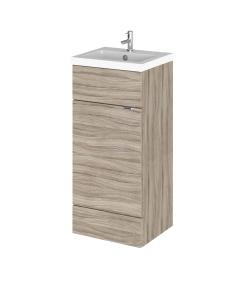 Hudson Reed Fusion Driftwood 400 FD Vanity Unit & Basin - CBI223 CBI223