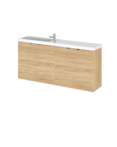 Hudson Reed Fusion Natural Oak 1200mm Vanity Unit & Basin - Compact - CBI335 CBI335