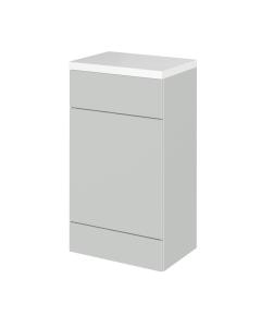 Hudson Reed Fusion Gloss Grey Mist 500mm WC Unit & Polymarble Top - CBI405 CBI405