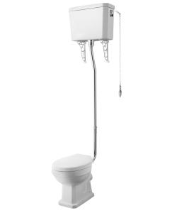 Nuie Carlton White Traditional High Level Pan, Cistern & Flush Pipe Kit - CCT002 CCT002