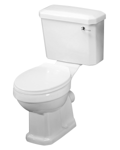 Nuie Carlton White Traditional Close Coupled Pan Cistern & Seat - CCT003 CCT003