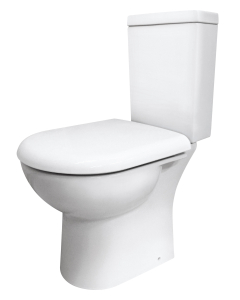 Nuie Provost White Contemporary Semi Flush to Wall WC - CKN003 CKN003