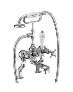 Burlington Claremont Bath Shower Mixer Tap, Pillar Mounted In Chrome - CL15 BU10652