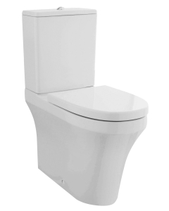 Nuie Provost White Contemporary Comfort H Flush to Wall Pan Cistern Seat - CMA011 CMA011